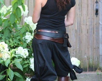 Black Tie, silly, Jedi inspired, pirate pants, one size waist, Length to your SIZE cotton, bellydance, SCA, Cosplay