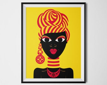 Black Woman Art, African Woman, Black Girl Art, African Gifts, Black Dolls, African American Dolls, African American Wall Art, African Decor