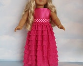 S A L E - 18 inch doll clothes - #203 Pink Ruffle Gown made to fit the American Girl Doll - FREE SHIPPING