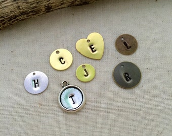 Add On Initial Tag. Initial tags, Personalized Tags, Hand Stamped Tags