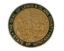 Seal of Lewis & Clark County MONTANA STATE vintage enamel pin cloisonne Eagle