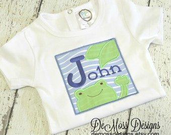 Personalized Frog Shirt or Bodysuit, Appliqued, Short or Long Sleeve Shirt,  Totally Custom Colors and Fabrics