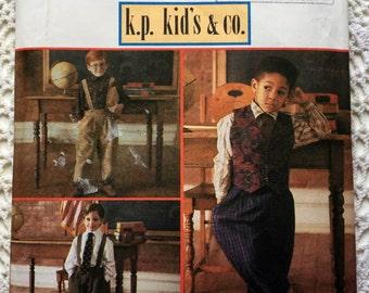 90s Simplicity 8567 Boys Suspender Pants Braces Size 3-6yrs Trousers Wedding