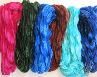 3 yards vintage BUMP CHENILLE - your choice of colors - Blue Jay bump chenille