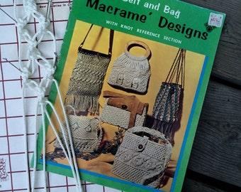Macrame Purse Patterns Book - Knotted Handbags - Macrame Belts