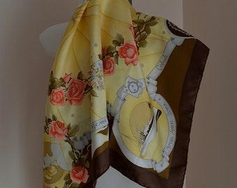 Vintage Silk Scarf, Vintage Battistoni Silk Scarf, Battistoni, 1980s Silk Scarf, Ladies Silk Scarf, Vintage Scarf, Scarf