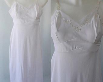 Vintage Slip, Vintage White Slip, 1960s Slips, Love Lines, White Full Slip,  Love Line by Gay Lure, Wedding, White Slip, Vintage 1960s Slip