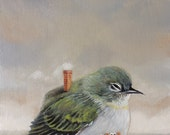 Birdhouse. Signed Print of an Original Oil Painting