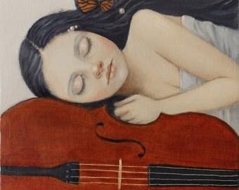 Sweet Dreams. Signed Art Print of an Original Oil Painting