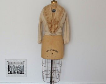 Vintage 1950s Cashmere - 50s Mink Sweater - The Gloria