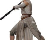 Rey Costume Pieces Star Wars -Shirt -Capris -Sleeve Bands -Sash -Pouch -Leather Wrist Band -Leather Belts  -ALL sizes! Custom Made