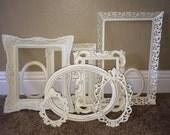 9 pc Baroque Frame Set Collection Vintage Filigree Heirloom White