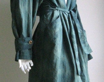 80s vtg gradient green light trench