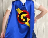 Costumes for Men and Women - ADULT SUPERHERO CAPE - Personalized Initial Lightning Bolt Hero Cape Costume - Ships Fast