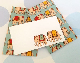 Circus Elephant Mini Cards and Envelopes - Set of 10