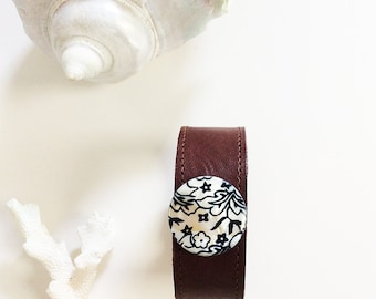 Fitbit Alta Bracelet Fitbit Flex Band Wearable Technology / Daisy Shell Brown Leather Fitbit ChargeHR Cuff Misfit Shine Jawbone Up Vivofit 3