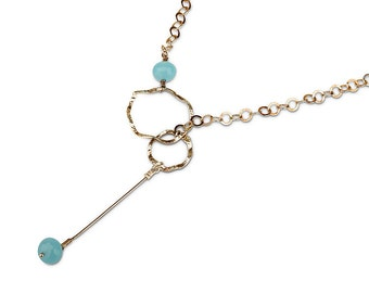 Sterling Silver Necklace  and Chalcedony Stones