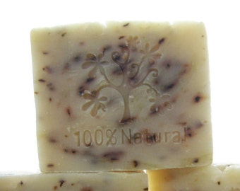 Peppermint Tea Tree Soap ~ All Natural Peppermint Tea Tree Cold Processed Soap ~ Organic and Vegan Soap