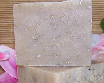 Unscented Oatmeal Soap - Oatmeal Cold Processed Soap ~ Oatmeal Goats Milk Soap ~ Natural Handmade Soaps