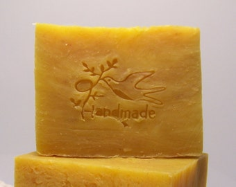 Honey Citron Coriander Soap - Olive Oil and Shea Butter Cold Processed Soap ~ Natural Soap