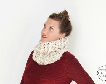 THE BRACKISH COWL | 23 Color Choices | Textured Knit Cozy Chunky Infinity Cowl