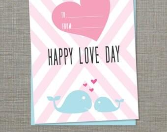 Printable Valentines Kid's Cards (PDF)