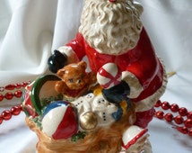 Vintage Christmas Santa Clause with all the Toys in His Bag