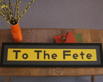 Vintage Bus Blind - 'To The Fete""