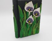 White and Purple Calla Lily Journal; Polymer Clay Journal; Custom Flower Art Journal; Floral Sketchbook; Style #: PWC01