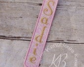 Princess Pink and Gold Pacifier Clip: Personalized Binky Holder, Baby Girl, Universal Paci Clip, Pacifier Keeper, Pacifier Leash