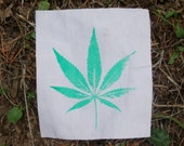 Pot Patch - Glow in the Dark, weed, cannabis, screenprint, 420, sativa, indica, bud, green, herb, ganja, legalize it, plant, hippy, hippie