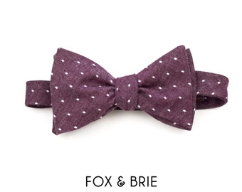 Purple Dot Bow Tie