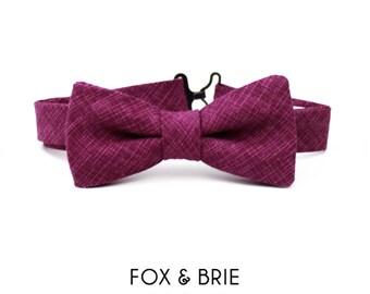 Magenta Kids Bow Tie