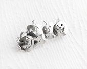 Jack-O-Laterns Sterling Silver Pin Brooch