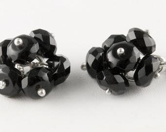 Black Onyx Cluster Cufflinks