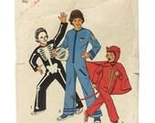 Vintage Simplicity 6696, Boy's Skeleton Costume Pattern, Boy's Devil Costume Pattern, Boys Astronaut Costume, DIY Boys Costume Pattern
