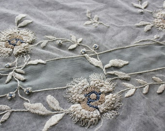 Luscious Vintage Art Deco Era Ribbon Embroidery Remnants