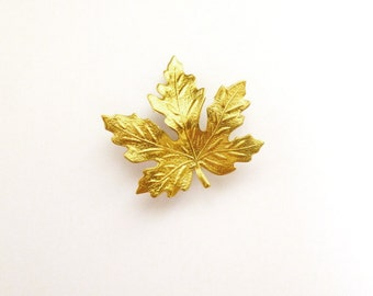 Gold Leaf Barrette Bridal Hair Clip Bride Bridesmaid Maple Botanical Autumn Fall Rustic Woodland Wedding Accessories Womens Gift For Her