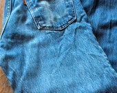 Vintage Levi's Orange Tab Jeans // Straight Leg Blue Jeans #43