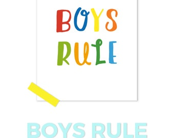 Boys Prints, Rainbow Print, Kids Decor, Playroom Art For Boys, Modern Kids Art, Baby Boy Art, Printable Kids Gift