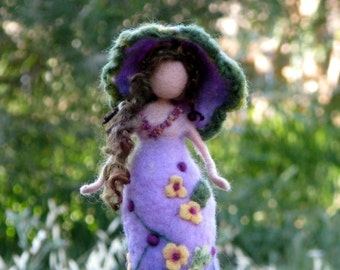 Art doll Waldorf inspired Needle felted doll