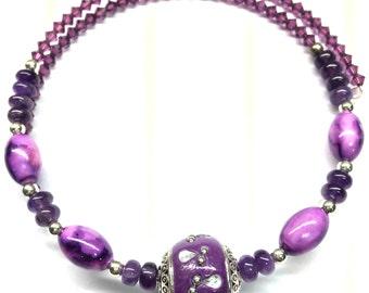 Purple Bazzar Choaker