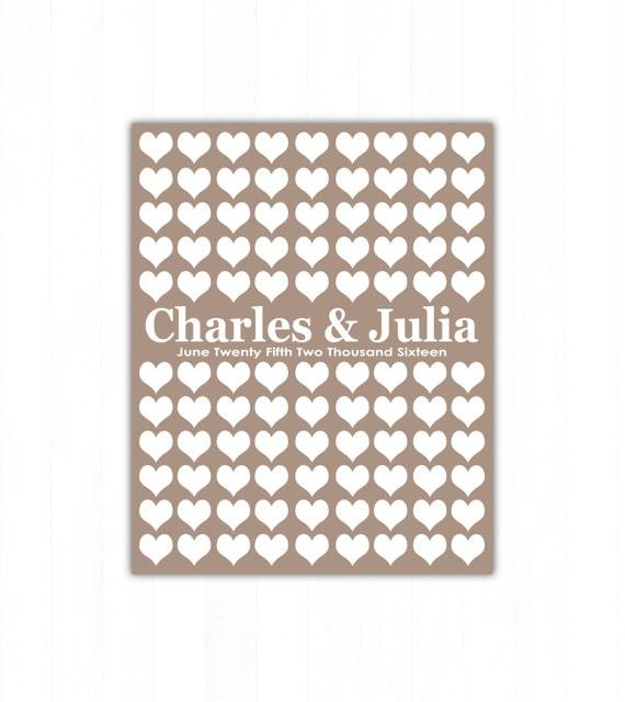 Wedding Guest Sign In Ideas: Items Similar To Wedding Guestbook Alternative Wedding