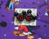 Mic-O-Lantern Halloween Disney Post Earrings