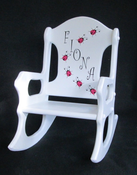 personalized toddler rocking chair ladybugs. Black Bedroom Furniture Sets. Home Design Ideas