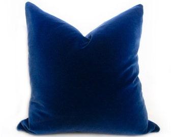 Belgium Blue Velvet Pillow Cover - Blue - MORE SIZES - Royal Blue Pillow - Blue Pillow - Blue Velvet Pillow - Decorative Pillow - Solid