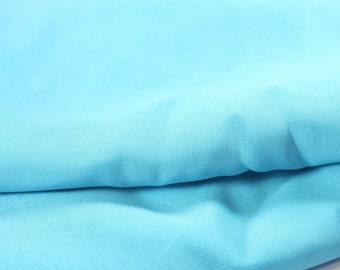 Aqua Sheer Fabric off the bolt / 3/4 yard / Supply / Sewing Supplies / yardage / Material