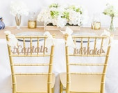 Wedding Chair Signs Nautical - Wooden Captain & First Mate Wedding Sign for Reception, Chiavari Chairs or Other Chair Signs (Item - CHN200)