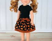 """Halloween Outfit 14.5"""" Doll Clothes - AG Wellie Wisher® Halloween Outfit - Wella Doll Clothes"""