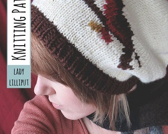 PATTERN - Robin Redbreast Knit Slouchy Hat